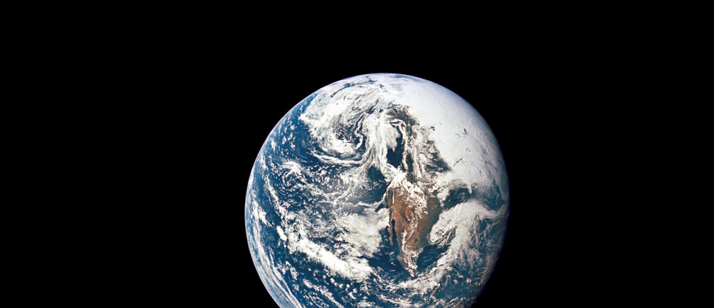 Earth is seen from 36,000 nautical miles away, as photographed from the Apollo 10 spacecraft during its trans-lunar journey toward the moon, May 18, 1969. Courtesy NASA/Handout via REUTERS NASA/Handout via REUTERS THIS IMAGE HAS BEEN SUPPLIED BY A THIRD PARTY. - RC14C58FCFC0