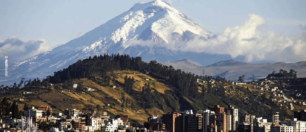 Ecuador's capital Quito is crossed by four tectonic faults, 192 ravines and surrounded by 20 volcanoes