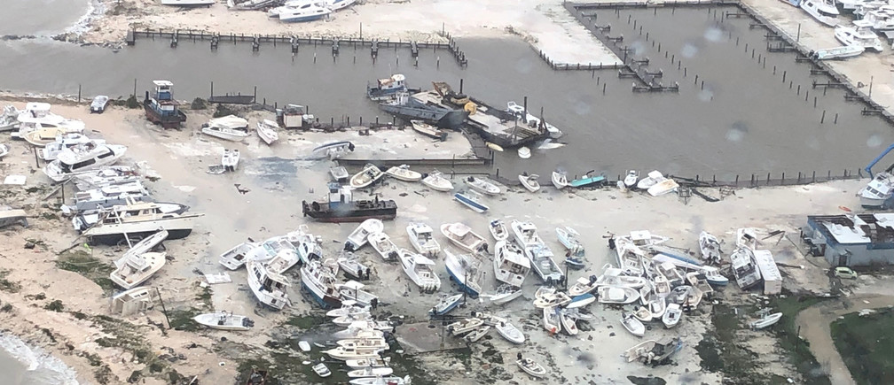 An aerial photo shows the aftermath of the Hurricane Dorian damage over an unspecified location in the Bahamas, in this September 2, 2019 photo. Picture taken September 2, 2019.   Courtesy Coast Guard Air Station Clearwater/U.S. Coast Guard/Handout via REUTERS   ATTENTION EDITORS - THIS IMAGE HAS BEEN SUPPLIED BY A THIRD PARTY.     TPX IMAGES OF THE DAY - RC15C51E63A0