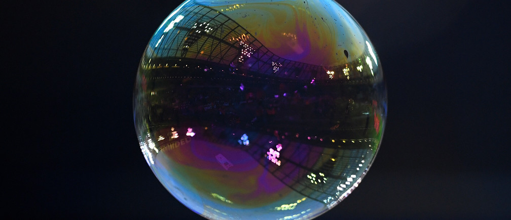 "Soccer Football - Premier League - West Ham United vs Newcastle United - London Stadium, London, Britain - December 23, 2017   General view of a bubble inside the stadium    Action Images via Reuters/Tony O'Brien    EDITORIAL USE ONLY. No use with unauthorized audio, video, data, fixture lists, club/league logos or ""live"" services. Online in-match use limited to 75 images, no video emulation. No use in betting, games or single club/league/player publications.  Please contact your account representative for further details. - RC11B9B70E90"