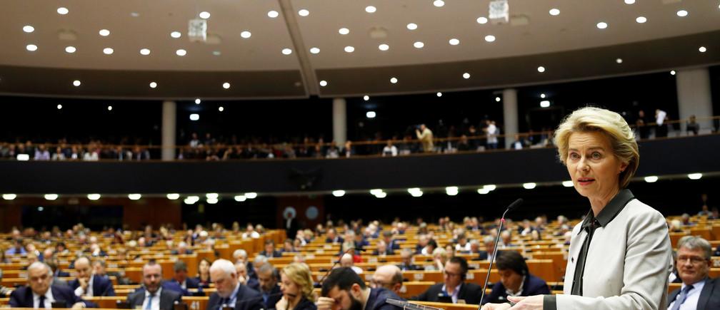 European Commission President Ursula von der Leyen presents a Green Deal plan