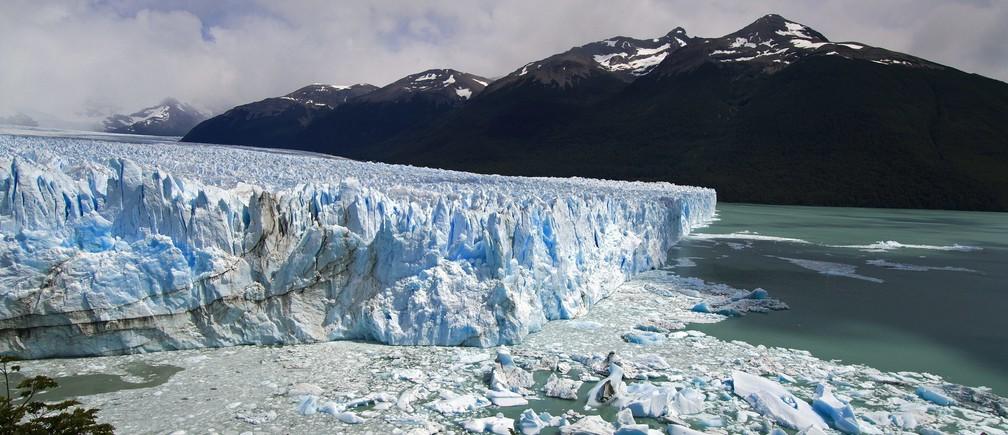 The Perito Moreno Glacier outside El Calafate, Argentina, January 13, 2011.