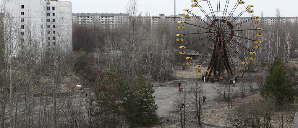 A view of the abandoned city of Prypiat, near the Chernobyl nuclear power plant March 31, 2011. Belarus, Ukraine and Russia will mark the 25th anniversary of the nuclear reactor explosion in Chernobyl, the place where the world's worst civil nuclear accident took place, on April 26.  REUTERS/Gleb Garanich