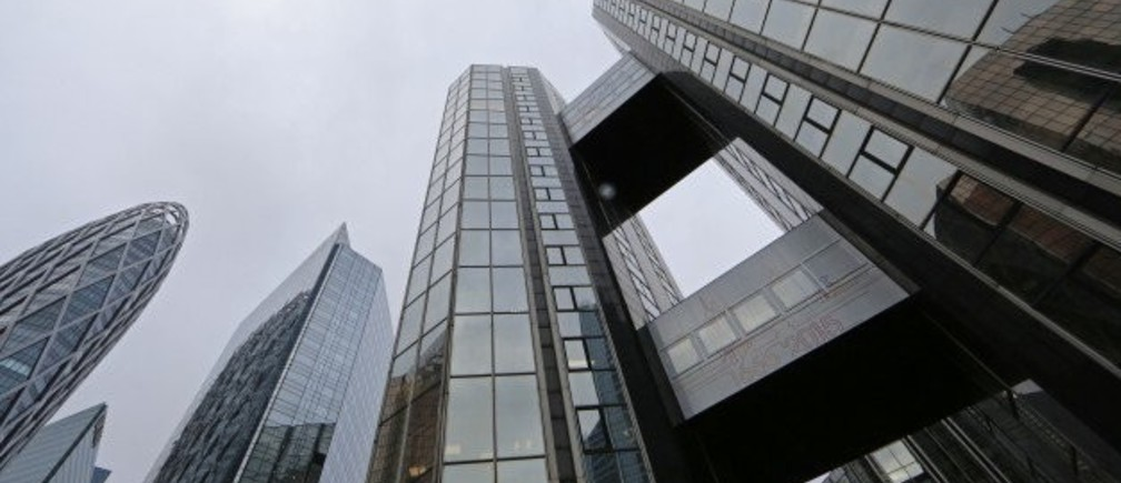 A view shows the headquarters of a French business in Courbevoie, outside Paris. REUTERS.