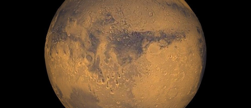 The planet Mars showing showing Terra Meridiani is seen in an undated NASA image. NASA will announce a major science finding from the agency?s ongoing exploration of Mars during a news briefing September 28 in Washington