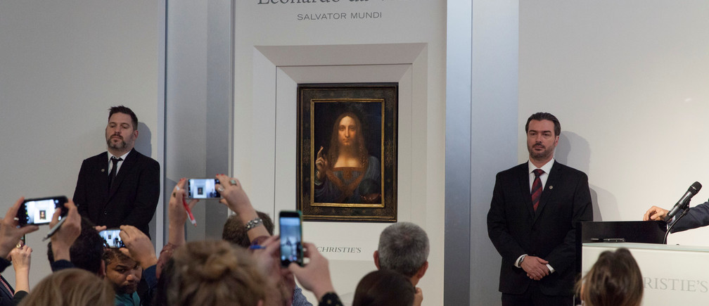 Leonardo da Vinci's Salvator Mundi, a portrait of Jesus Chris, has sold for $450 million