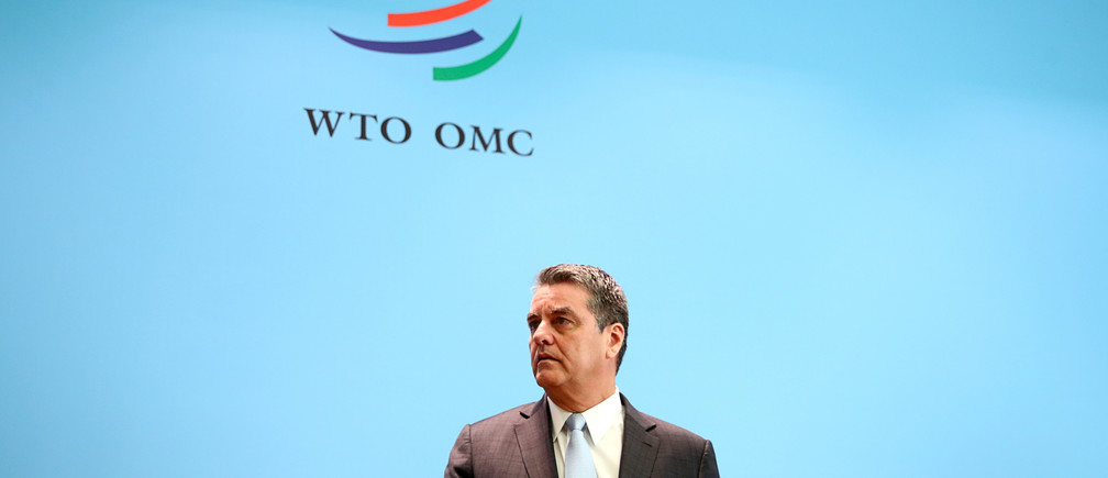 World Trade Organization (WTO) Director-General Roberto Azevedo attends a news conference on the annual global trade forecast at the WTO headquarters in Geneva, Switzerland, April 2, 2019. REUTERS/Denis Balibouse - RC11A8B1A6E0