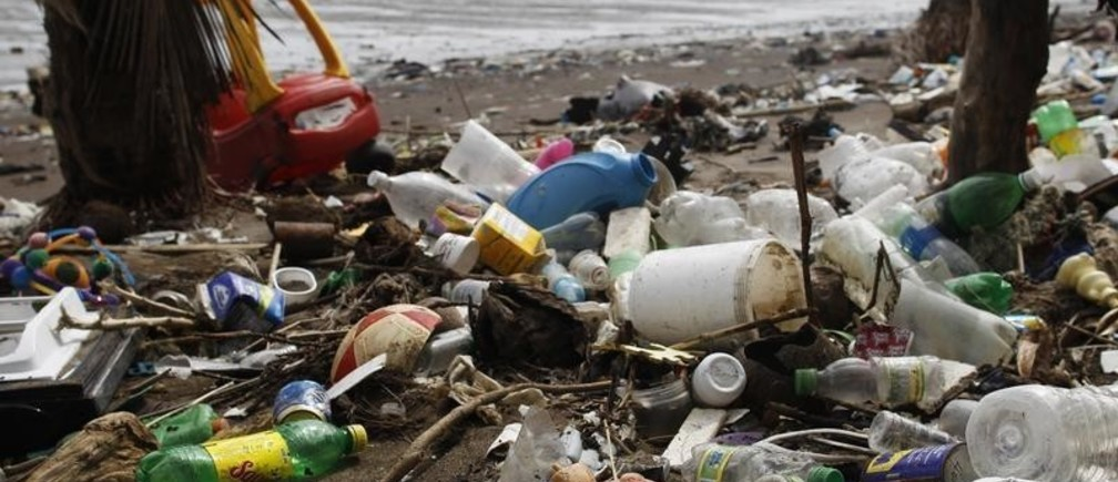 Discarded toys are seen amongst trash, on a beach near the high-income Costa del Este neighbourhood in Panama City September 10, 2013. The National Association for the Conservation of Nature (ANCON) reports that the majority of Panama City's beaches and rivers are contaminated with plastic and general waste due to lack of awareness for waste management, causing major problems for fishermen and negative impact on mangroves and their wildlife. Picture taken September 10, 2013. REUTERS/Carlos Jasso (PANAMA - Tags: ENVIRONMENT SOCIETY) - GM1E99I1RD801