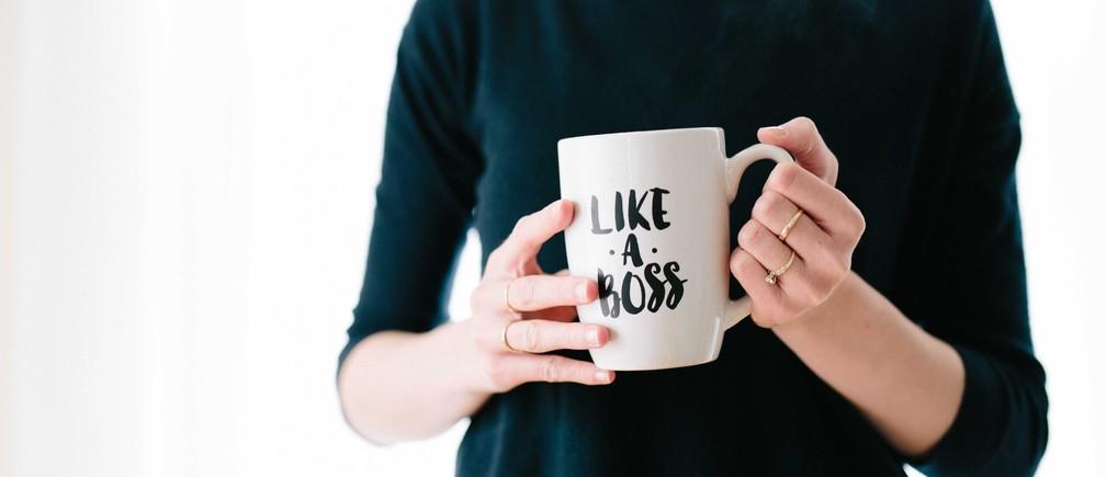 A CEO with her mug.