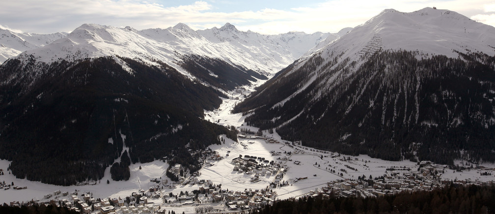 The Swiss mountain resort of Davos
