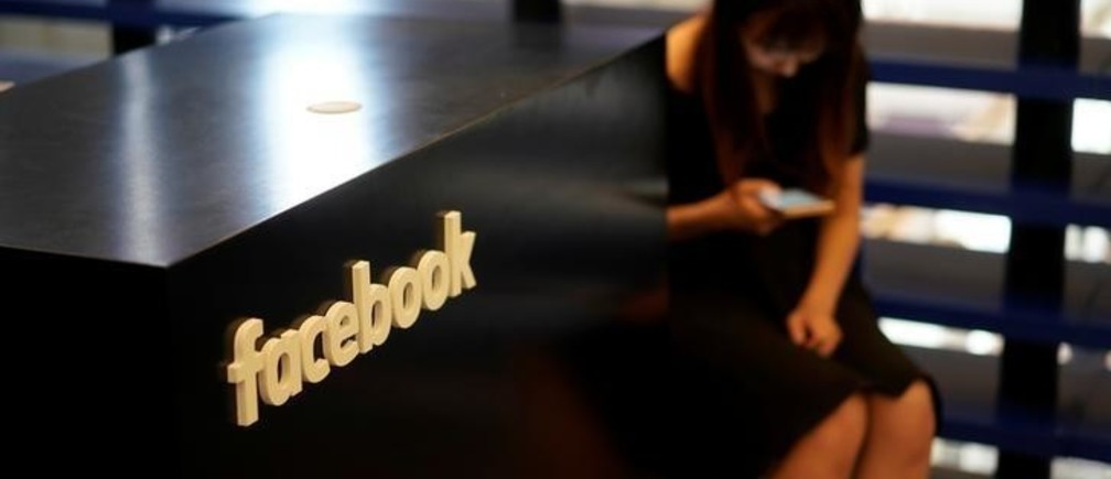 A Facebook sign is seen during the China Digital Entertainment Expo and Conference (ChinaJoy) in Shanghai, China August 3, 2018. REUTERS/Aly Song