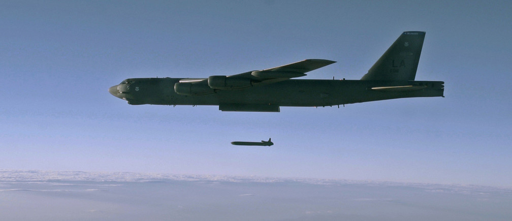 An unarmed AGM-86B Air-Launched Cruise Missile is released from a B-52H Stratofortress over the Utah Test and Training Range during a Nuclear Weapons System Evaluation Program sortie, 80miles west of Salt Lake City, Utah, U.S., September 22, 2014.  Picture taken September 22, 2014.  To Match Special Report USA-NUCLEAR/MODERNIZE   Air Force/Staff Sgt. Roidan Carlson/Handout via REUTERS  ATTENTION EDITORS - THIS IMAGE WAS PROVIDED BY A THIRD PARTY. - RC135B6E2810