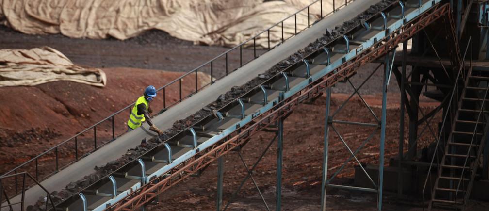 An Ivory Coast manganese mine.