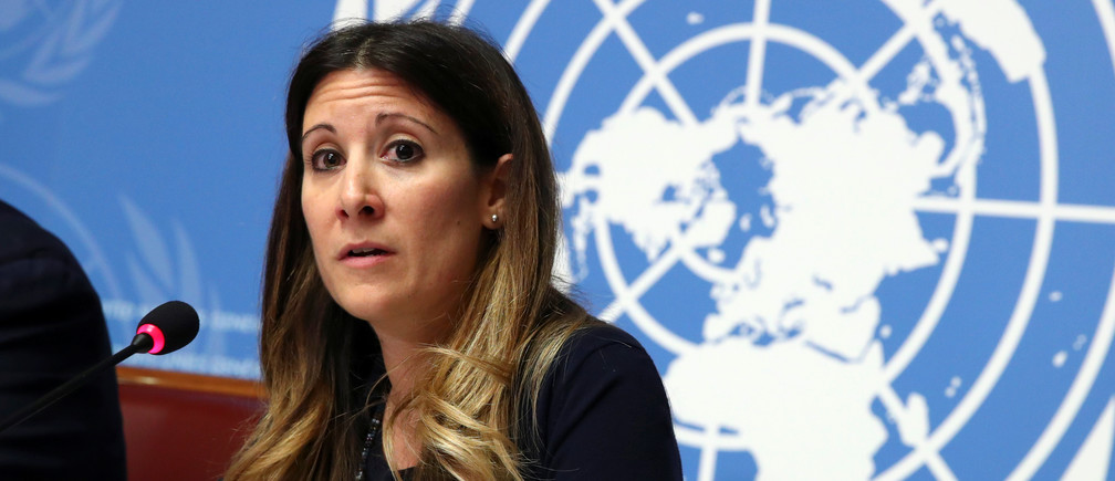 Maria Van Kerkhove, Head a.i. Emerging Diseases and Zoonosis at the World Health Organization (WHO), speaks during a news conference on the situation of the coronavirus at the United Nations in Geneva, Switzerland, January 29, 2020. REUTERS/Denis Balibouse - RC2SPE9J1GZP