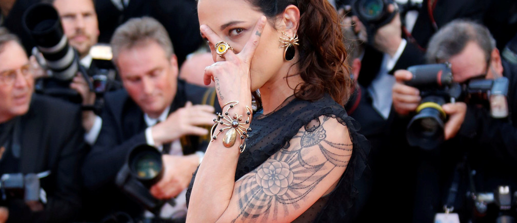 "70th Cannes Film Festival - Opening ceremony and screening of the film ""Les fantomes d'Ismael"" (Ismael's Ghosts) out of competition - Red Carpet Arrivals  - Cannes, France. 17/05/2017.  Actress Asia Argento poses. REUTERS/Regis Duvignau - RC1F7E9C6B70"