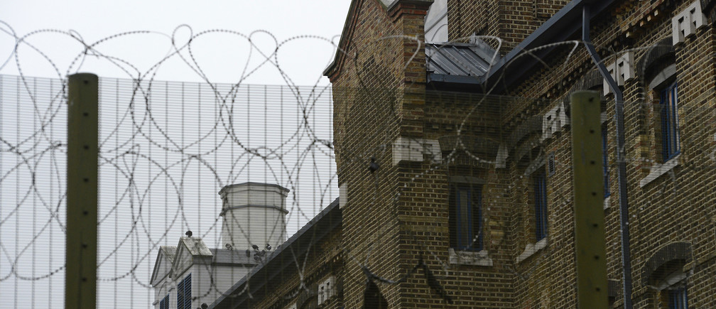 A general view shows a detail of Wormwood Scrubs prison in London October 22, 2012.   REUTERS/Paul Hackett  (BRITAIN - Tags: CRIME LAW) - LM1E8AM0XOI01