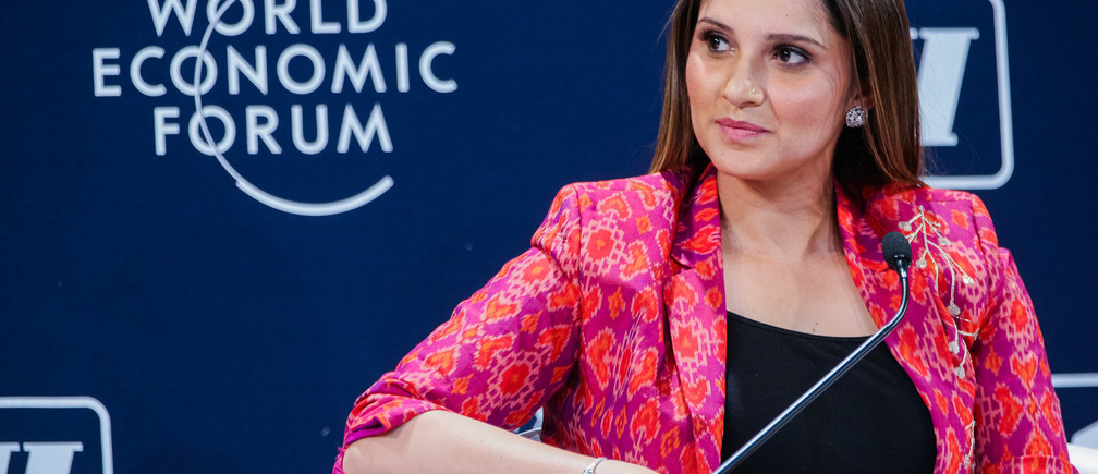 "Sania Mirza, Sportsperson and UN Women Goodwill Ambassador for South Asia, India; Cultural Leader speaking during the Session ""Opening Plenary"" at the India Economic Summit 2019 in New Delhi, India, Copyright by World Economic Forum / Benedikt von Loebell"