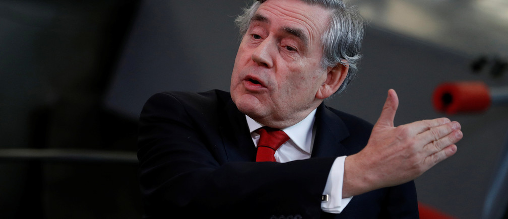 Britain's former Prime Minister Gordon Brown gives a Labour Party campaign speech at the engineering department of Coventry University, May 11, 2017. REUTERS/Phil Noble - RTS166PB