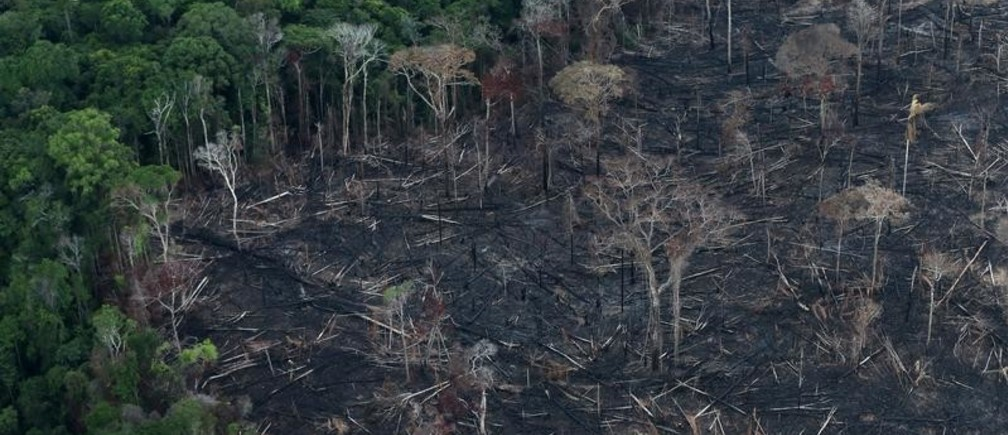 An aerial view of a tract of Amazon jungle after it was cleared by farmers in Itaituba, Para, Brazil September 26, 2019.  Picture taken September 26, 2019. REUTERS/Ricardo Moraes - RC2WDD9MVRJP