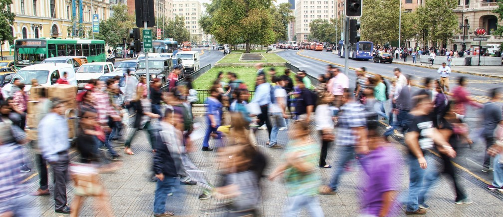 A crowded street.