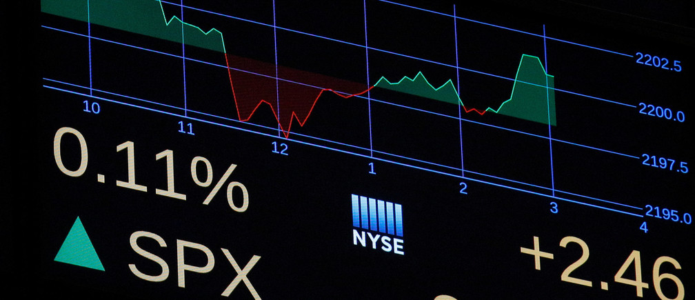 A screen shows the Standard and Poor's (S&P) Index before the close of trading on the floor of the New York Stock Exchange (NYSE) in New York City, U.S., November 22, 2016.  REUTERS/Brendan McDermid - S1AEUOJODOAA