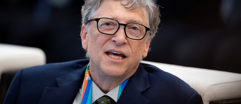 Microsoft founder Bill Gates attends a forum of the first China International Import Expo (CIIE) in Shanghai on November 5, 2018.