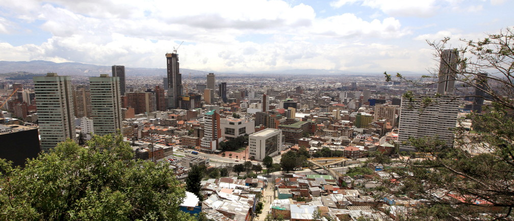 A general view of Bogota city is seen from the eastern mountains April 7, 2015.