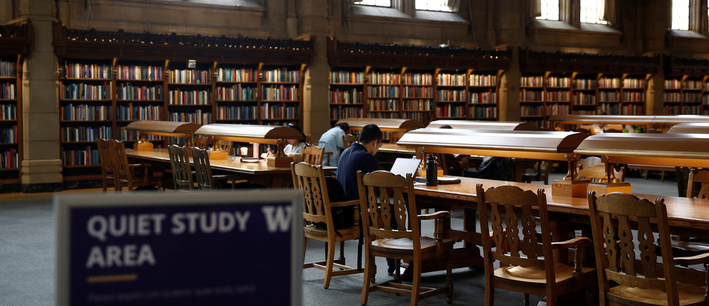 Students study in the Reading Room at Suzzallo Library on the University of Washington campus in Seattle, Washington, U.S., September 20, 2018. Picture taken on September 20, 2018. REUTERS/Lindsey Wasson - RC165172DA60