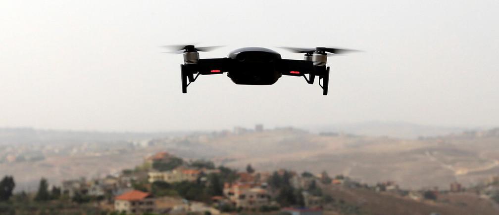 A drone flies in Nabatieh area, Lebanon October 25, 2018. REUTERS/ Jamal Saidi - RC13B8034690