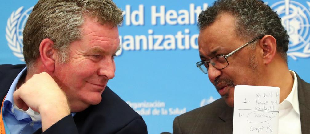WHO Director-General Tedros Adhanom Ghebreyesus and Executive Director Michael J. Ryan.