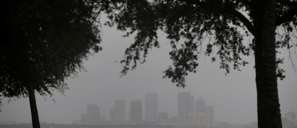 The Tampa skyline is pictured ahead of the arrival of Hurricane Irma in Tampa, Florida, U.S., September 10, 2017. REUTERS/Chris Wattie