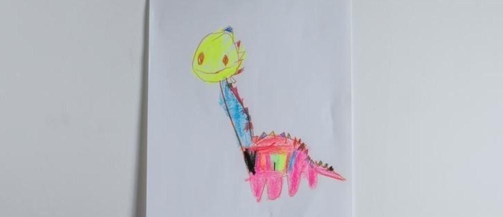 "A drawing of what Maxim, almost 4, wants to get for Christmas from Santa, is seen at his apartment in Belgrade, Serbia November 23, 2016. Maxim said he would like to get a plastic dinosaur. Reuters photographers around the world asked children to draw what they wanted to receive from Santa for Christmas. REUTERS/Marko Djurica            SEARCH ""CHRISTMAS WISHES"" FOR THIS STORY. SEARCH ""WIDER IMAGE"" FOR ALL STORIES."