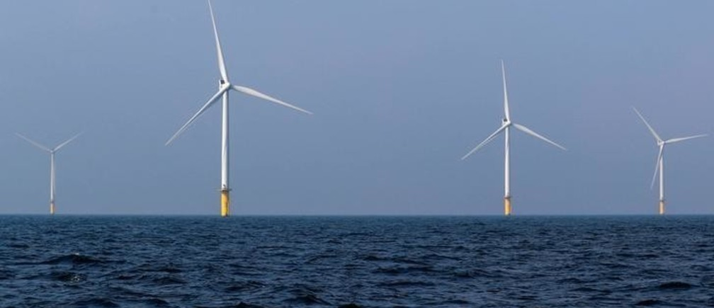 Power-generating windmill turbines are seen at the Eneco Luchterduinen offshore wind farm near Amsterdam, Netherlands September 26, 2017.   REUTERS/Yves Herman