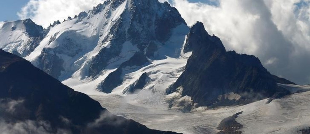 The Aiguille Verte mountain summit is pictured on the Mont-Blanc Massif from Emosson, Switzerland, August 9, 2017. REUTERS/Denis Balibouse