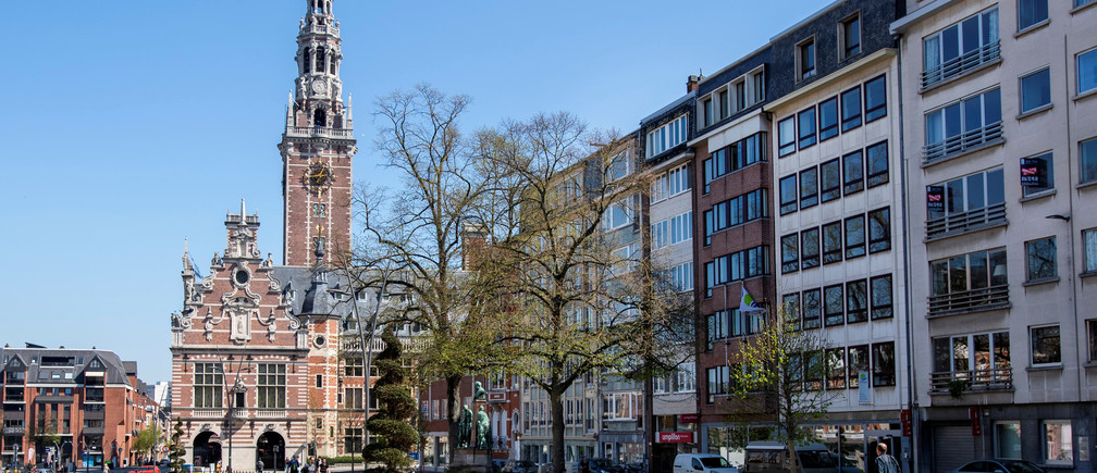 "The library of the university KU Leuven ""Katholieke Universiteit Leuven"" is pictured in Leuven, Belgium, April 18, 2019. Picture taken April 18, 2019.   REUTERS/Piroschka van de Wouw - RC1473F96060"