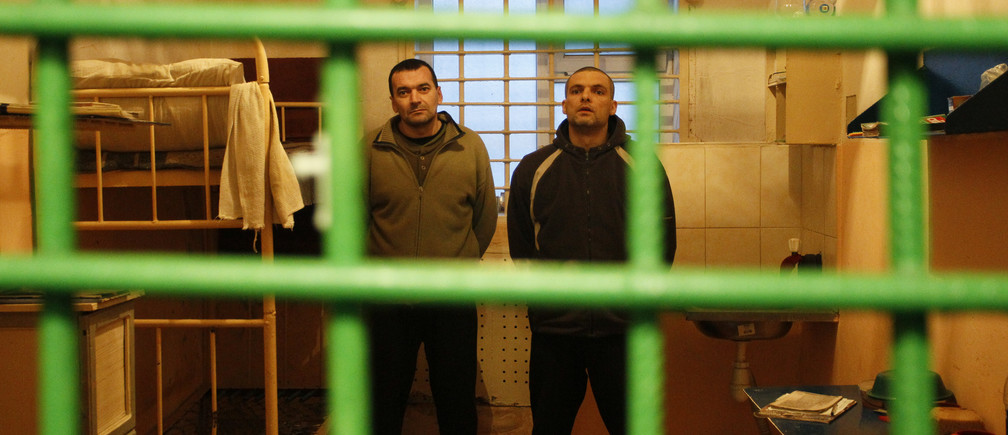 Prisoners of war (POWs) from the Ukrainian armed forces are seen inside a cell of the Western penitentiary colony number 97 during a demonstration for the media in the separatist-held settlement of Makiivka (Makeyevka) outside Donetsk, Ukraine November 28, 2017. REUTERS/Alexander Ermochenko - UP1EDBS1ARZ2U