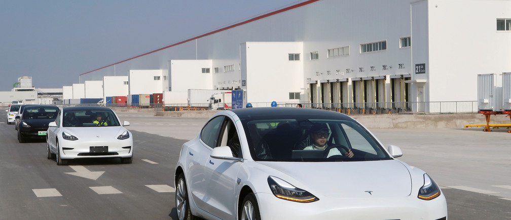 China-made Tesla Model 3 vehicles are seen at the Shanghai Gigafactory of the U.S. electric car maker in Shanghai, China December 30, 2019.