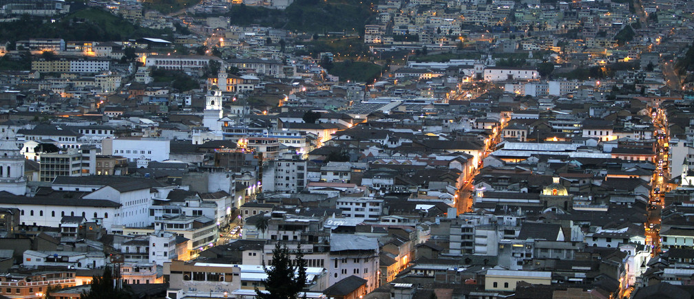 A view shows the historic center at downtown Quito, April 12, 2012.