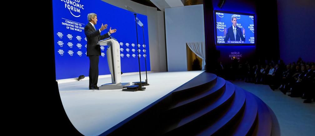 John Kerry gives a special address at Davos 2016