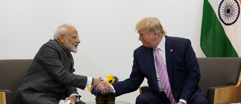 U.S. President Donald Trump attends a bilateral meeting with India's Prime Minister Narendra Modi  during the G20 leaders summit in Osaka, Japan, June 28, 2019. REUTERS/Kevin Lamarque - RC18D3BF62B0
