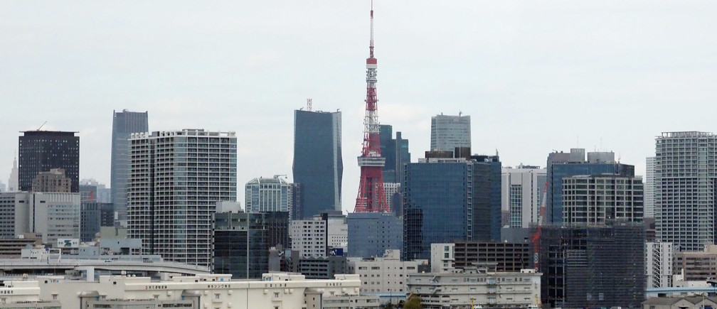 Oct 16, 2019; Tokyo, JAPAN; General view of the Tokyo skyline and the Tokyo Tower in preparation for the Tokyo 2020 Summer Olympic Games. Mandatory Credit: Jerry Lai-USA TODAY Sports - 13525267