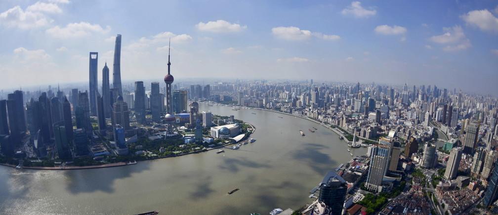 The Shanghai city skyline