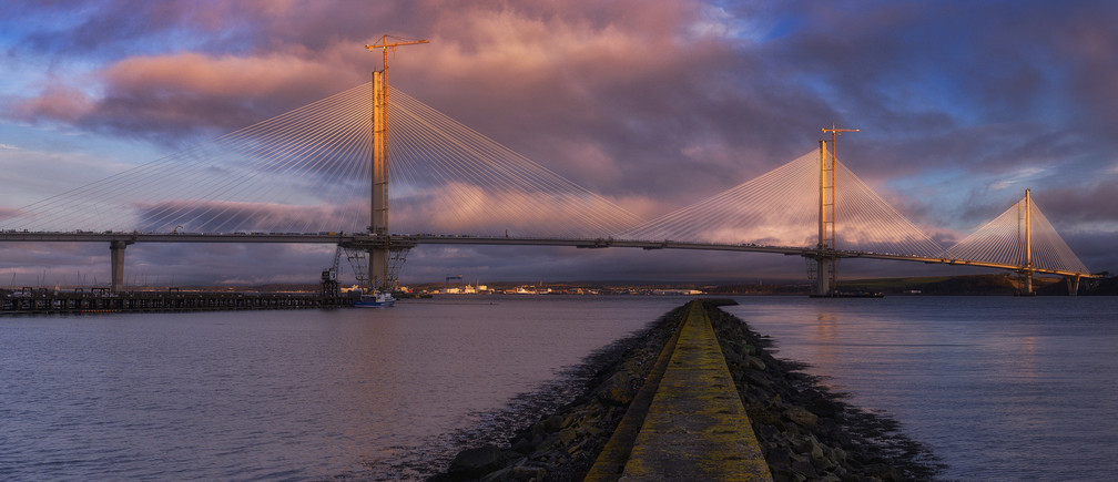 The Third Way: The new Queensferry Crossing across the River Forth, Scotland, nearing completion