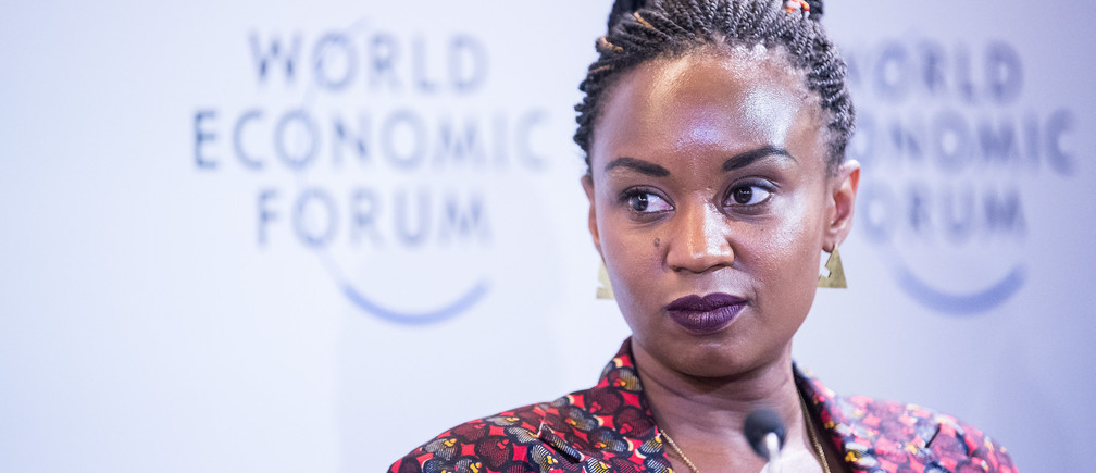 "Wanuri Kahiu, Film Director, AFROBUBBLEGUM, Kenya during the Session ""Generation AI "" at the Annual Meeting 2018 of the World Economic Forum in Davos, January 26,  2018.   Copyright by World Economic Forum / Boris Baldinger"