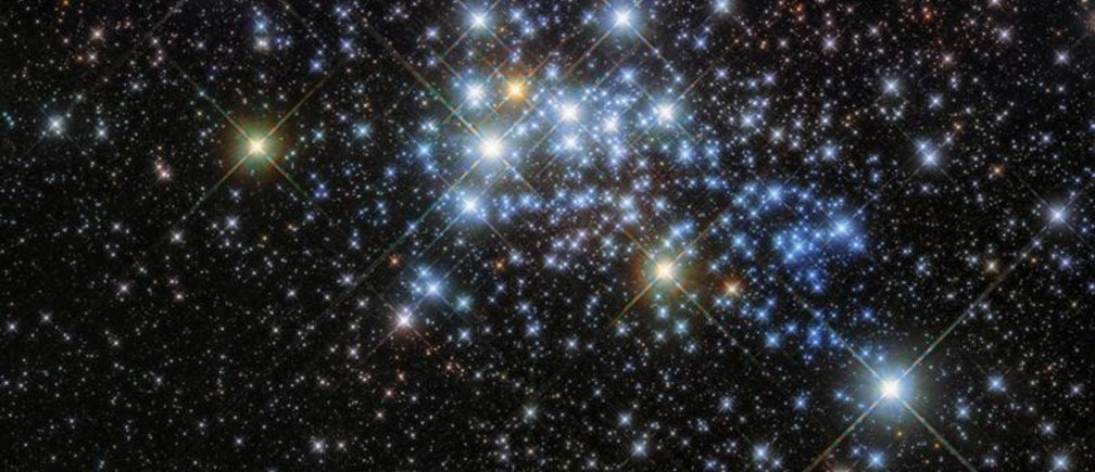 A young super star cluster known as Westerlund 1 is seen in an image released by NASA on March 10, 2017. Westerlund 1 is home to one of the largest stars ever discovered, originally named Westerlund 1-26. It is a red supergiant with a radius over 1500 times that of our Sun. NASA/ESA/Hubble Space Telescope/Handout via REUTERS   ATTENTION EDITORS - THIS IMAGE WAS PROVIDED BY A THIRD PARTY - RC1BED509D30