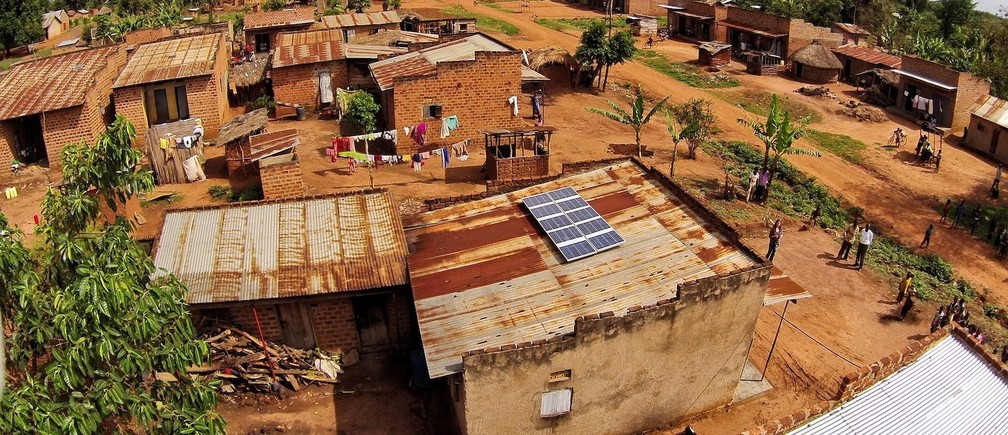 A 500W solar system in a rural village in Uganda