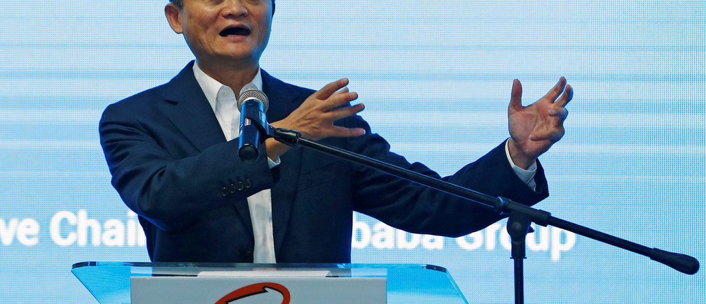 Jack Ma, founder of Chinese e-commerce giant Alibaba, speaks during the launch of Alibaba's office in Kuala Lumpur, Malaysia June 18, 2018. REUTERS/Lai Seng Sin