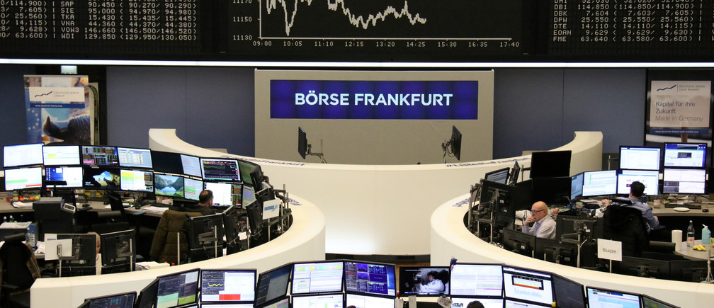 The German share price index DAX graph is pictured at the stock exchange in Frankfurt, Germany, February 4, 2019.    REUTERS/Staff - RC1D4704BFD0