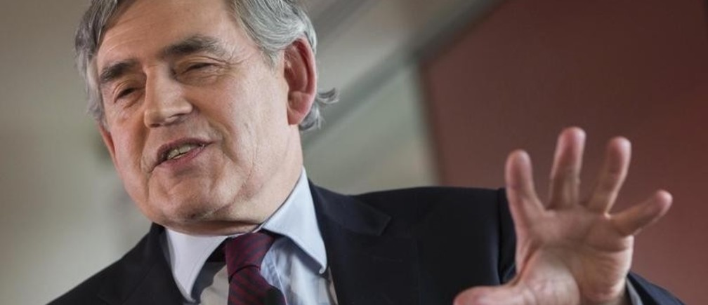 Britain's former Prime Minister Gordon Brown delivers a speech on the Labour Party's leadership election in London, Britain August 16, 2015