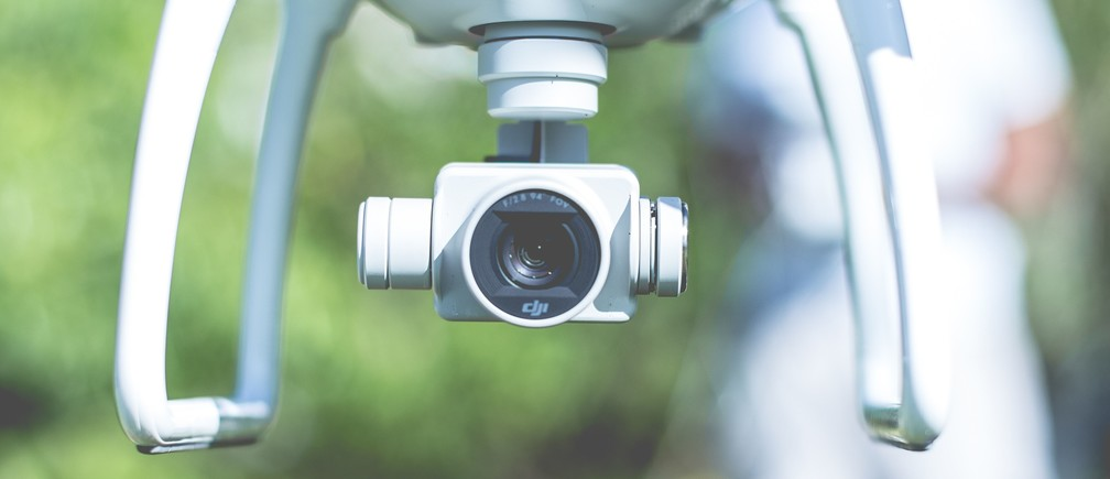 A camera drone.